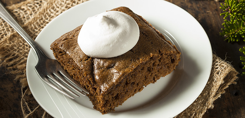 Aunt Patty's Gingerbread Cake & Whipped Coconut Cream