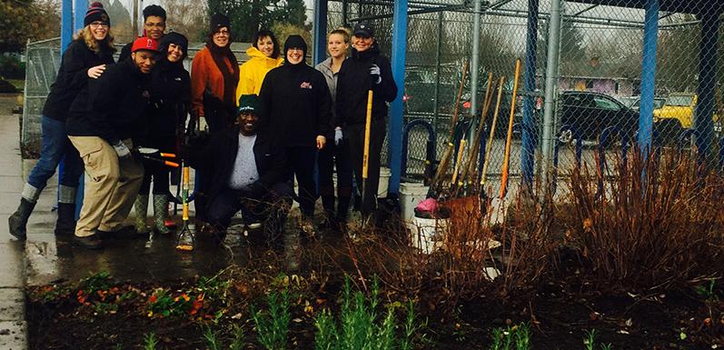 School Garden Project - GloryBee Work Party
