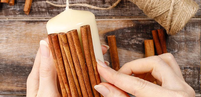 Vanilla & Cinnamon Stick Candle