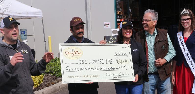 GloryBee Donates $65,118.68 to OSU Honey Bee Lab