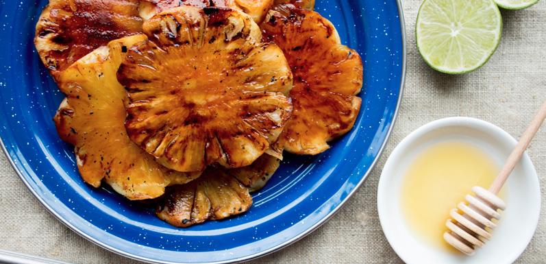 Grilled Habanero Honey Pineapple