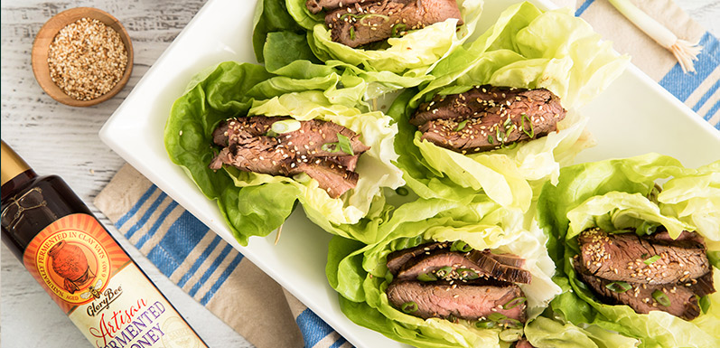 Korean-Style Honey Flank Steak