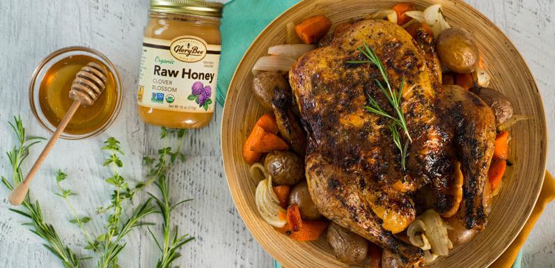 Honey-Glazed Roast Chicken