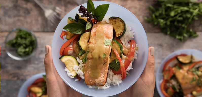 Salmon in Thai-Style Green Coconut Curry